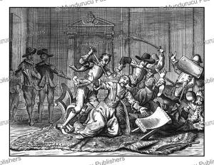 the murder of janiere by the portuguese, ceylon (sri lanka), philippus baldaeus, 1672