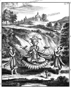 buddha, the ninth avatar of the hindu vishnu, ceylon (sri lanka), philippus baldaeus, 1672