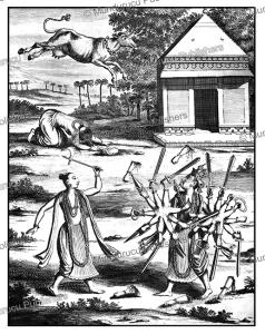 parasurama, the angry man, the sixth avatar of the hindu god vishnu, ceylon (sri lanka), philippus baldaeus, 1672