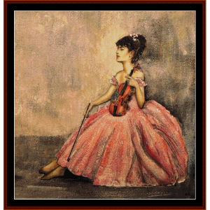 violinist at rest - w.r.flint cross stitch pattern by cross stitch collectibles