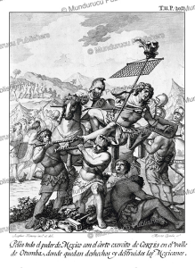 mexicans destroyed by the army of corte´s at otumba, mexico, josephus ximeno, 1783