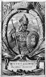 montezuma ii, the aztec king of mexico, arnoldus montanus, 1671