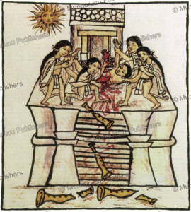 human sacrifice before the sun, aztec, antonio magliabechi, 1680