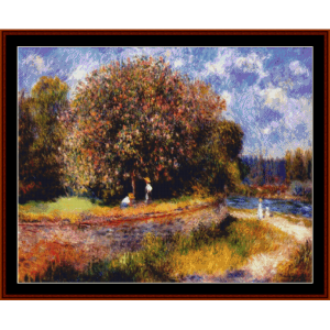 chestnut tree blooming - renoir cross stitch pattern by cross stitch collectibles