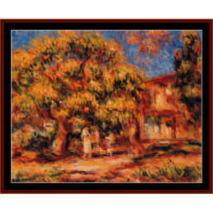 Lime Trees and Farmhouse - Renoir cross stitch pattern by Cross Stitch Collectibles | Crafting | Cross-Stitch | Other