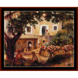 the farm, 1914 - renoir cross stitch pattern by cross stitch collectibles