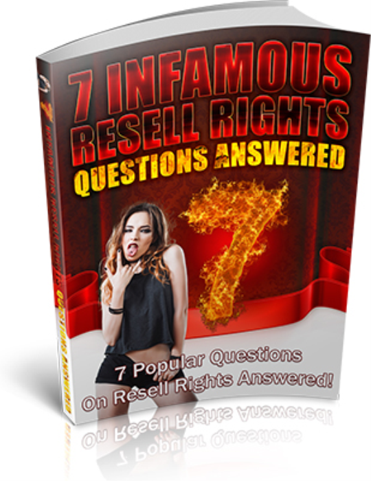 First Additional product image for - 7 Infamous Resell Rights Questions