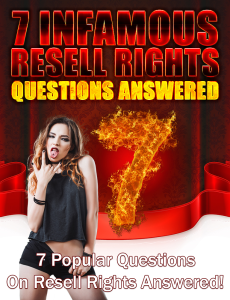 7 Infamous Resell Rights Questions | eBooks | Business and Money