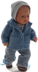 dollknittingpatterns 0195d olava- veste, salopette, bonnet et chaussures-(francais)