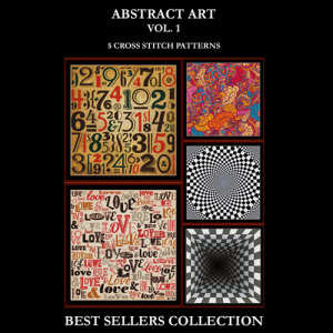abstract art best-sellers collection by cross stitch collectibles