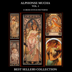 mucha best-sellers collection by cross stitch collectibles