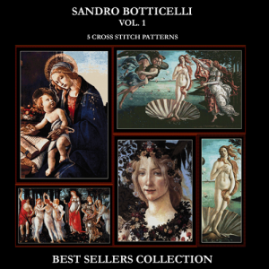 botticelli best-sellers collection by cross stitch collectibles