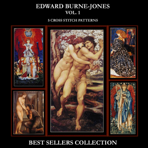 burne-jones best-sellers collection by cross stitch collectibles