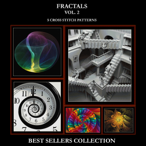 Fractals Vol. 2 Best-Sellers Collection by Cross Stitch Collectibles | Crafting | Cross-Stitch | Other
