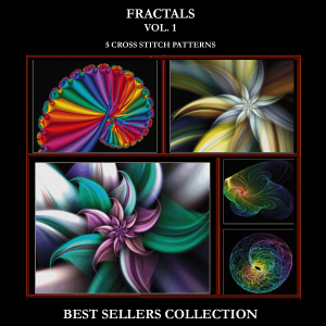 Fractals Vol. 1 Best-Sellers Collection by Cross Stitch Collectibles | Crafting | Cross-Stitch | Other