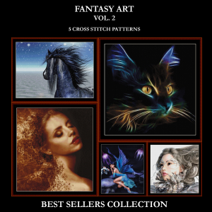 fantasy vol. 2 best-sellers collection by cross stitch collectibles