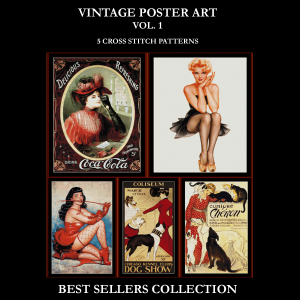 vintage posters best-sellers collection by cross stitch collectibles