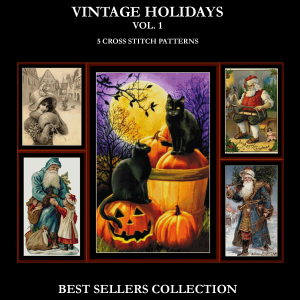 Vintage Holiday Best-Sellers Collection by Cross Stitch Collectibles | Crafting | Cross-Stitch | Other