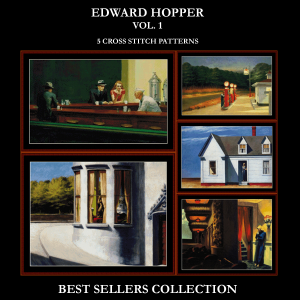 edward hopper best-sellers collection by cross stitch collectibles