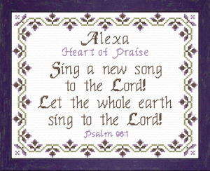 Name Blessings - Alexa | Crafting | Cross-Stitch | Religious