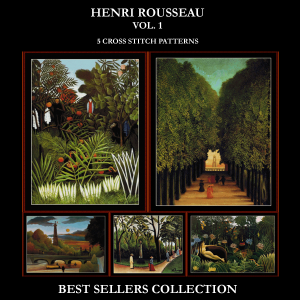 henri rousseau best-sellers collection by cross stitch collectibles