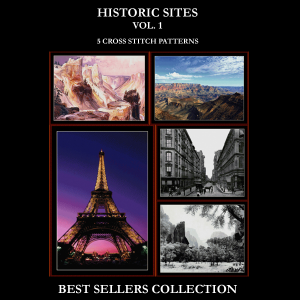 historic sites best-sellers collection by cross stitch collectibles