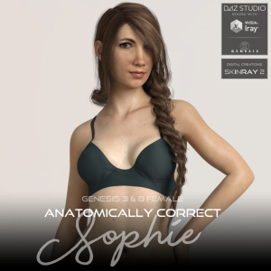 anatomically correct: sophie for genesis 3 and genesis 8 female