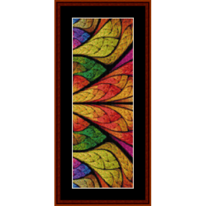 fractal 723 bookmark cross stitch pattern by by cross stitch collectibles