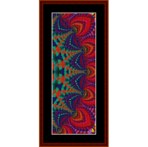fractal 720 bookmark patten by cross stitch collectibles