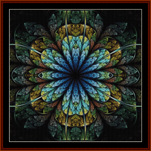 Fractal 721 cross stitch pattern by Cross Stitch Collectibles | Crafting | Cross-Stitch | Other