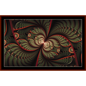 Fractal 722 cross stitch pattern by Cross Stitch Collectibles | Crafting | Cross-Stitch | Other