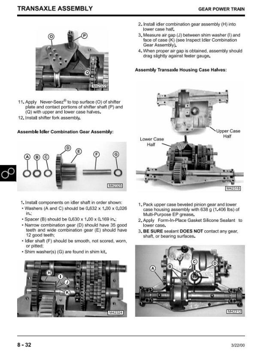 Second Additional product image for - John Deere 1438,1538,1542, 15.538,15.542, 1642,1646,1742,1846,2046 Sabre Tractors Technical Manual TM1769
