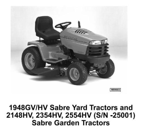 First Additional product image for - John Deere Sabre 1948GV, 2354HV, 1948HV, 2148HV, 2554HV Yard and Garden Tractors Technical Manual TM1841