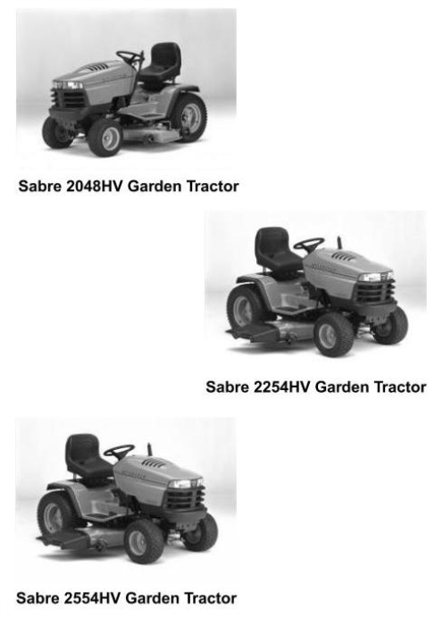 Second Additional product image for - John Deere Sabre 2048HV, 2254HV & 2554HV Yard and Garden Tractors Technical Service Manual (tm1741)