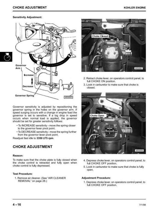 Fourth Additional product image for - John Deere Sabre 2048HV, 2254HV & 2554HV Yard and Garden Tractors Technical Service Manual (tm1741)