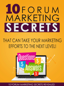 10 Forum Marketing Secrets | Software | Business | Other