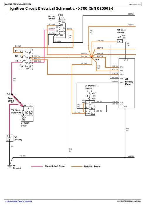 John Deere X720 Wiring Diagram. john deere 720 wiring diagram wiring diagram  database. john deere x700 x720 x724 x728 x729 lawn tractors. lawn garden  tractor a repair manual store. john deere x4652002-acura-tl-radio.info