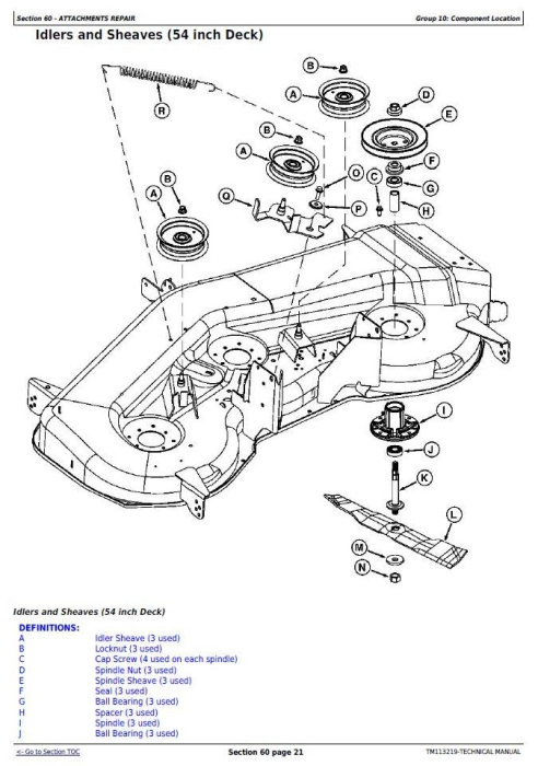 Fourth Additional product image for - John Deere D100, D105, D110, D120, D125, D130, D140, D150, D155, D160, and D170 Lawn Tractors Diagnostic and LA Series Lawn Tractors Riding Lawn Equipment Technical Manual (TM113219)