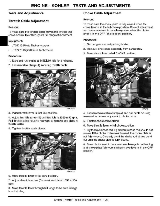 Second Additional product image for - John Deere GT225, GT235, GT235E, GT245 L&G Lawn and Garden Tractors Technical Service Manual (tm1756)