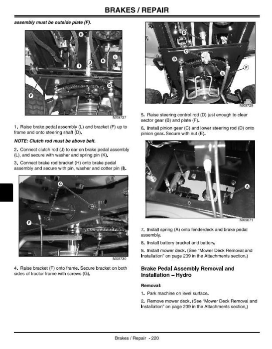Third Additional product image for - John Deere Sabre 1642HS, 14.542GS, 17.542HS, 1442GS Lawn Tractors Technical Service Manual (tm1948)