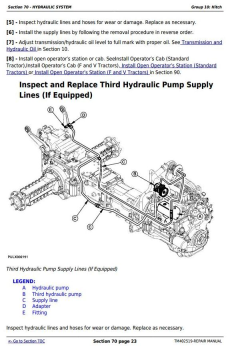 Second Additional product image for - Deere Tractor 5080G,5090G, 5090GH, 5080GV,5090GV,5100GV, 5080GF,5090GF,5100GF Repair Manual TM402519