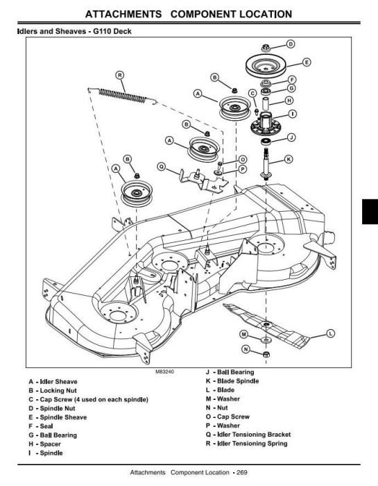 Fourth Additional product image for - John Deere G100, G110 Lawn and Garden Tractors (North America) Technical Service Manual (tm2020)