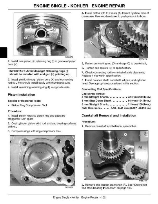 Second Additional product image for - John Deere L100, L110, L120, L130, L118, L111 Lawn Tractors Technical Service Manual (tm2026)