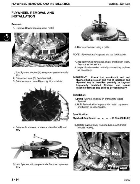 Second Additional product image for - John Deere LTR155, LTR166, LTR180 Lawn Tractors Diagnostic and Repair Technical Service Manual (TM1768)