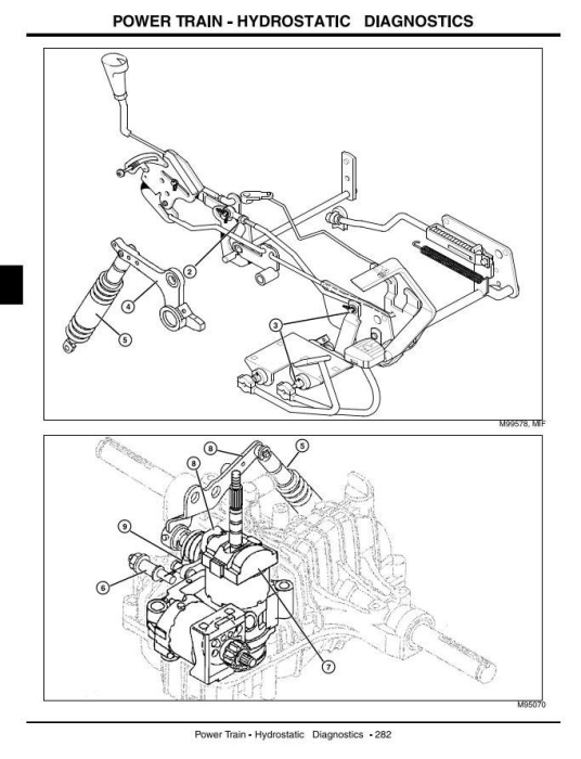 Third Additional product image for - John Deere LX280, LX280AWS, LX289 (SN.100001-) Lawn Tractors Technical Service Manual (tm2046)