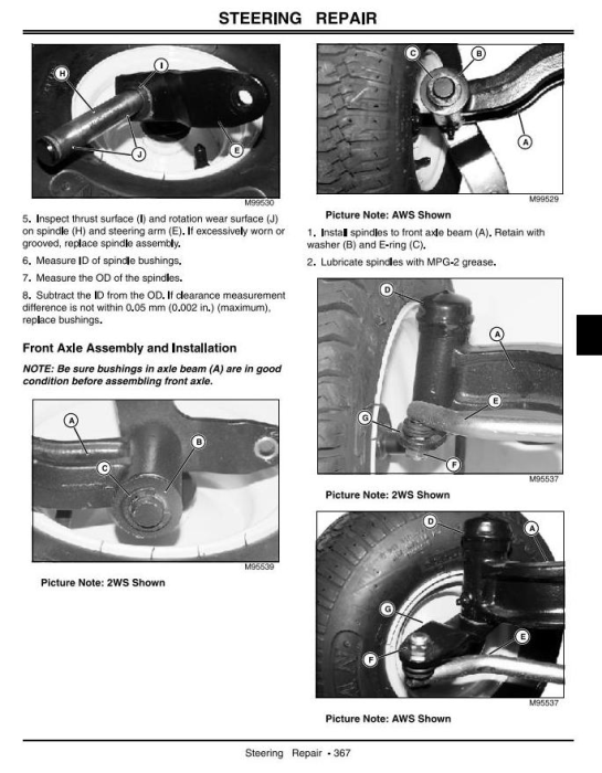Fourth Additional product image for - John Deere LX280, LX280AWS, LX289 (SN.100001-) Lawn Tractors Technical Service Manual (tm2046)