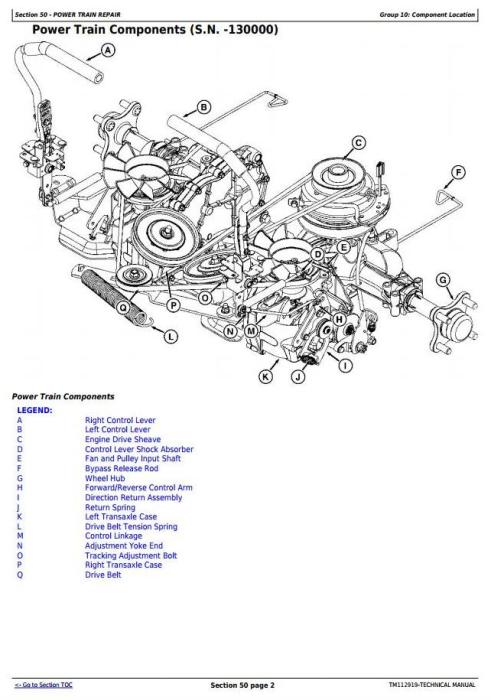 Second Additional product image for - John Deere Z225, Z245, Z235, Z255 EZtrak Riding Lawn Residential Mower Technical Service Manual TM112919