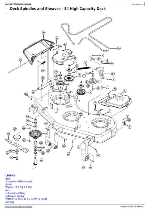 Third Additional product image for - John Deere Z445, Z465 EZtrak Riding Lawn Residential Mower (SN.-100000) Technical Service Manual (tm1499)