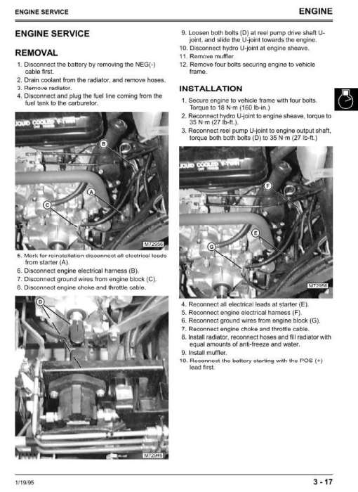 Third Additional product image for - Professional Utility Mower Type 2653 Diagnostic and Repair Technical  Service Manual (tm1533)