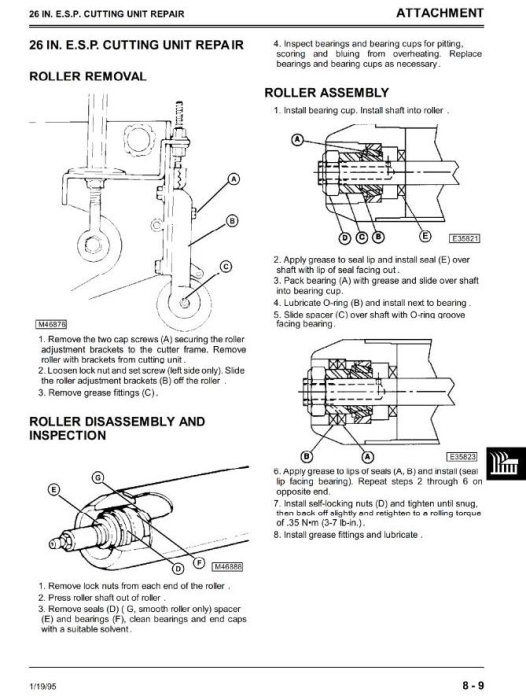Fourth Additional product image for - Professional Utility Mower Type 2653 Diagnostic and Repair Technical  Service Manual (tm1533)